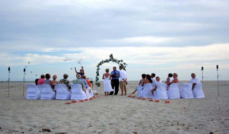 Beach Weddings On Oak Island Nc Beach Wedding Package